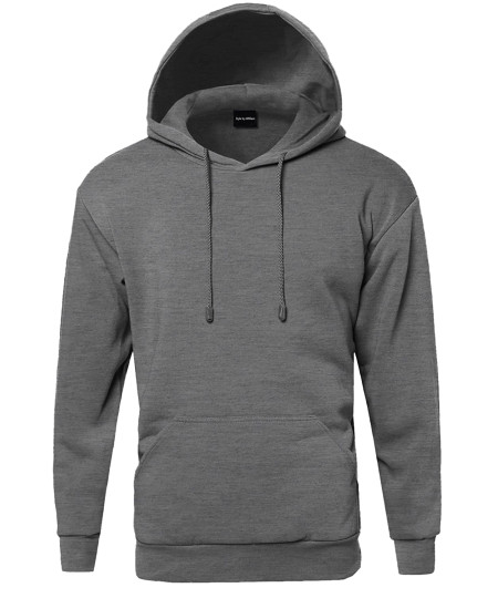 Men's Basic Pullover Fleece Hooded Sweatshirt