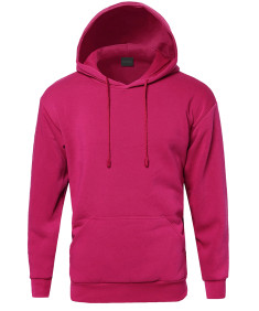Men's Basic Pullover Fleece Hooded Sweatshirt