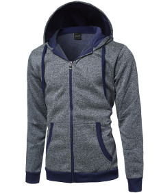 Men's Plush Fleece Zip Up Hoodie Jacket
