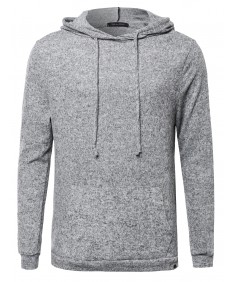 Men's Long Sleeve Super Soft Hoodie With Side Slits