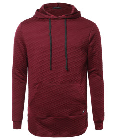 Men's Long Sleeve Stylish Hoodie With Side Zipper Detail