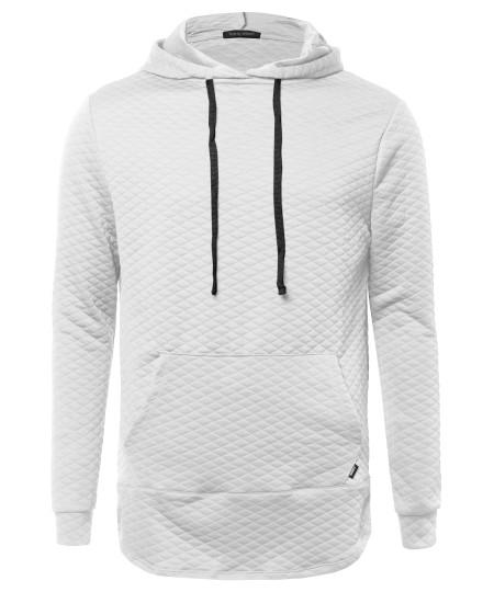 Men's Long Sleeve Stylish Hoodie With Side Zipper Detail