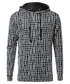 Men's Long Sleeve Stylish Lightweight Hoodie With Side Slits