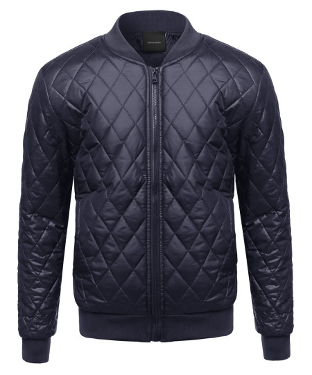 Men's Classic Lightweight Quilted Padded Bomber Jacket