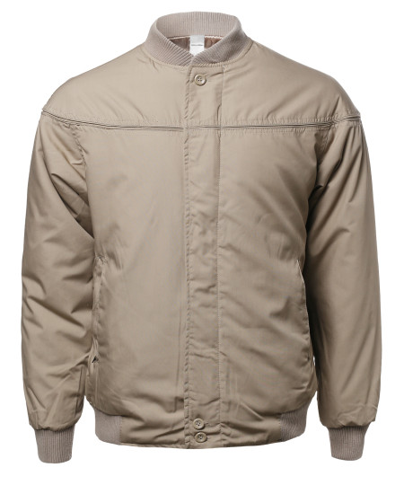 Men's Classic Cotton Bomber Jacket