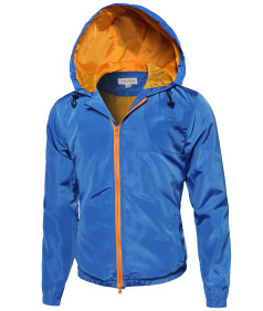 Men's Lightweight Outdoor Hooded Windbreaker