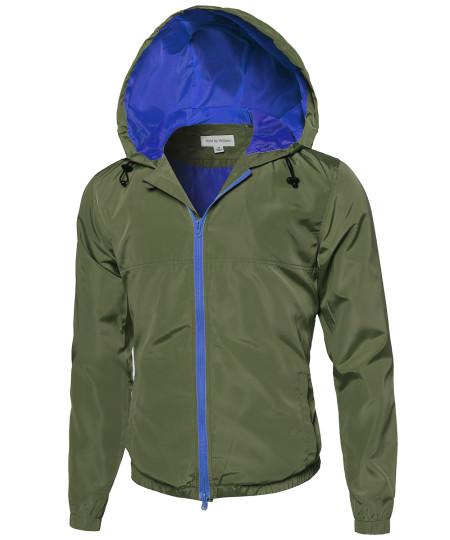 Men's Lightweight Outdoor Hooded Windbreaker