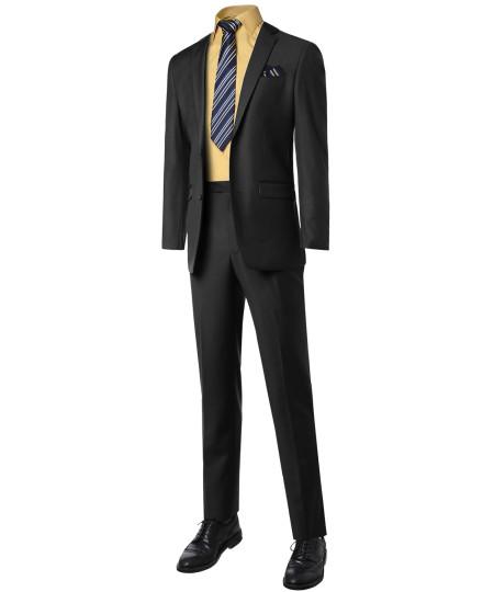 Men's Classic Slim Fit 2 PCS Suit Blazer And Slacks