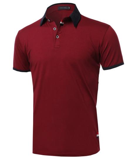 Men's Subtle Color Contrast Polo Tee