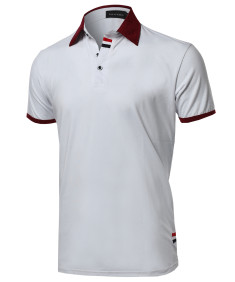 Men's Subtle Color Contrast Polo Tee