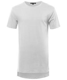 Men's Basic Short Sleeve Shirt With High-Low Hemline