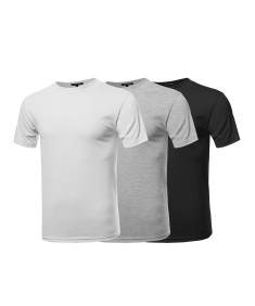 Men's Basic Loose Heavyweight Crewneck Short Sleeve Cotton T-shirt