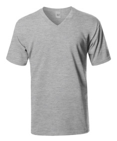 Men's Basic Short Sleeve V-neck Cotton T-shirt S-5XL MADE IN USA