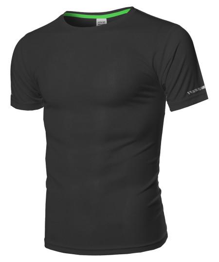 Men's Workout Active-wear Short Sleeve Top