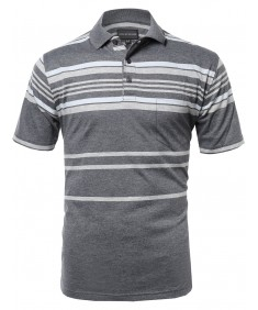 Men's Basic Everyday Stripe Polo T-Shirt FMTTS04