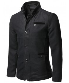 Men's Classic Contemporary Mock Neck Coat