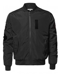 Men's Premium Quality Patch Flight Bomber Jacket