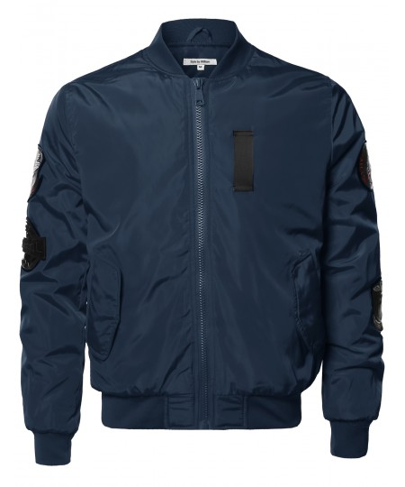 Men's Premium Quality Patch Flight Bomber Jacket