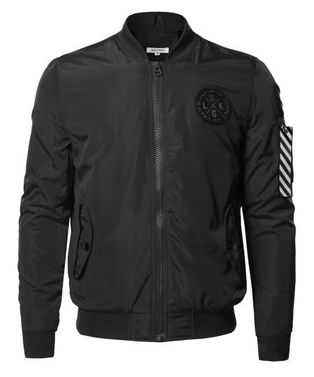 Men's Premium Quality Sleeve Pocket Bomber Jacket