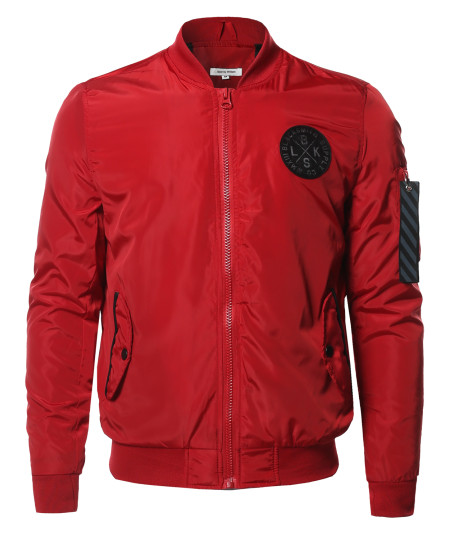 Men's Premium Quality Sleeve Pocket Bomber Jacket