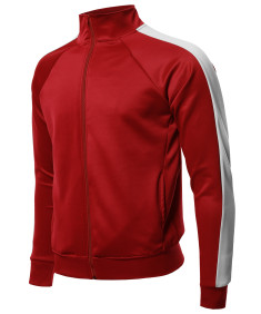 Men's Premium Quality Shoulder Panel Zip-Up Track Jacket