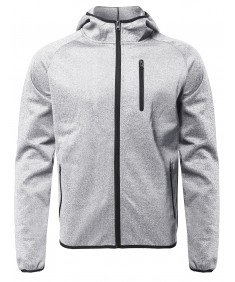 Men's Full Zip Up Performance Track Jacket