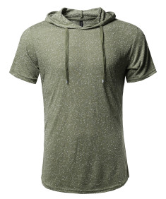 Men's Basic Casual Various Color Short Sleeve Hoodie