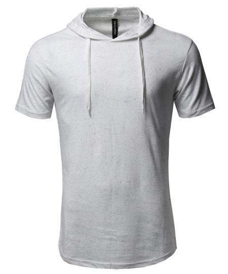Men's Basic Casual Various Color Short Sleeve Hoodie