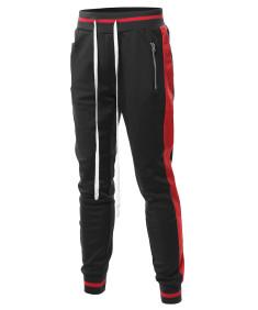 Men's Side Panel Long Length Drawstring Track Pants