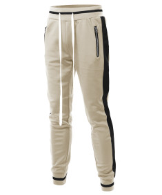 Men's Side Panel Long Length Drawstring Track Pants
