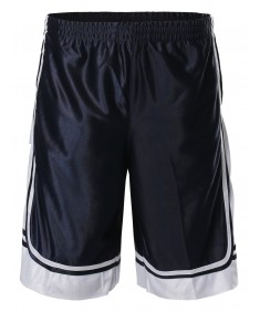 Men's Athletic Basketball Double-Stitched Side Pokets Shorts
