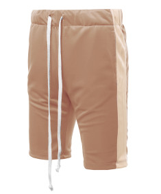 Men's Casual Side Panel Drawstring Side Pockets  Short Length Track Pants