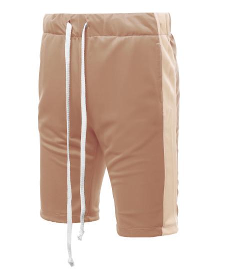 Men's Casual Side Panel Drawstring Side Pockets  Short Length Track Pants