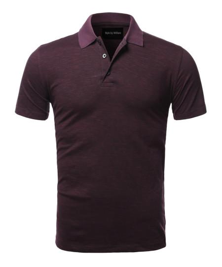 Men's Casual Regular fit Cotton Basic Short Sleeve Polo T-Shirt