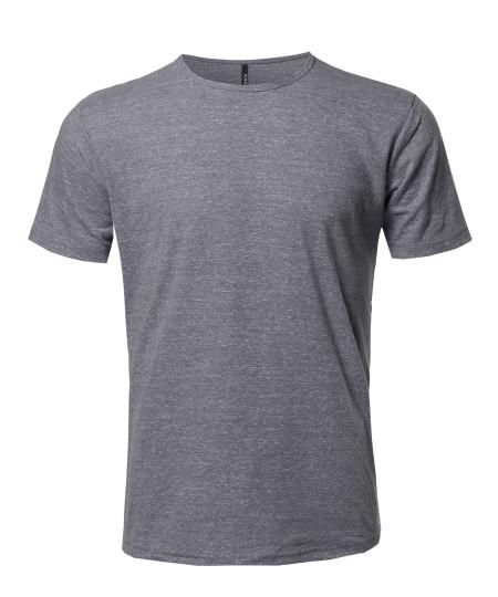 Men's Marble Short Sleeves Crew Neck T-Shirt