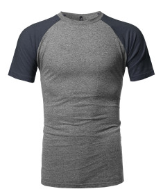 Men's Color-block Raglan Short Sleeves T-Shirt