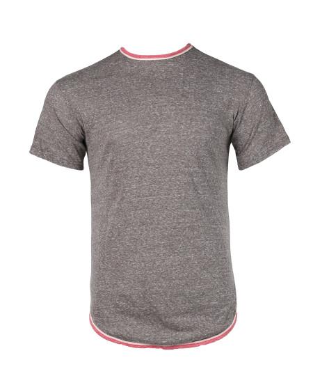 Men's Casual Longline Curved Hem Short Sleeve T-shirt