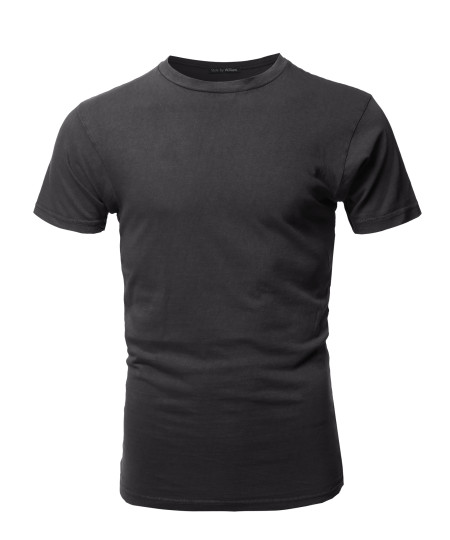 Men's Basic T Shirt Casual Vintage Crewneck Tee
