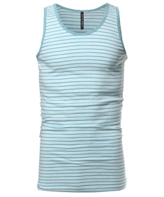 Men's Basic Scoop Neck Tank Top