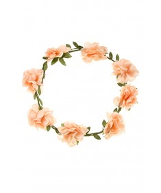 Women's Boho Style Party Wedding Beach Festival Light Rose Flower Headband