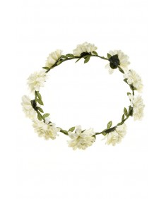 Women's Boho Style Party Wedding Beach Festival White Flower Headband