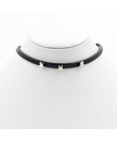 Women's Fashion Charm Vintage Boho Chic Style Star Black Leather Choker