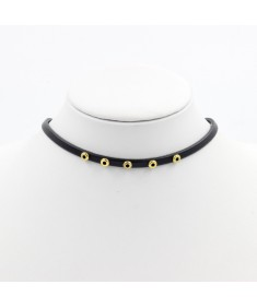 Women's Fashion Charm Vintage Boho Chic Style Circle Black Leather Choker