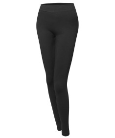 Women's Basic Seamless Fleece Lined Leggings