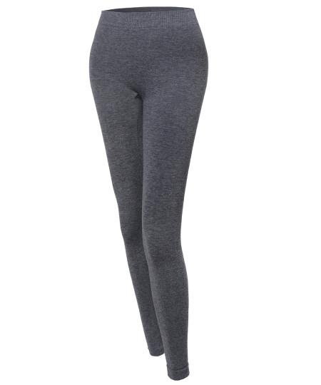 Women's Basic Seamless Fleece Lined Leggings
