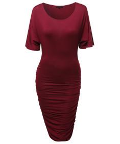 Women's Super Sexy Short Sleeve Body Con Wrap Dress