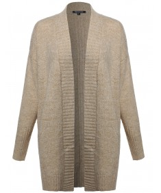 Women's Chunky Knit Cardigan With Side Slits