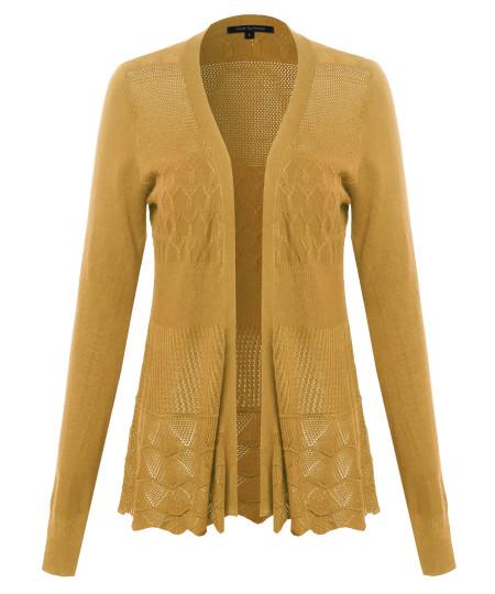 Women's Patterned Long Sleeve Cardigan