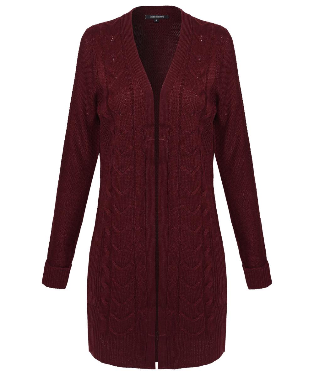 Women's long knit jacket