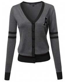 Women's Lightweight Cardigan With Contrasting Colors